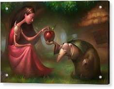 Snow White Acrylic Print by Adam Ford