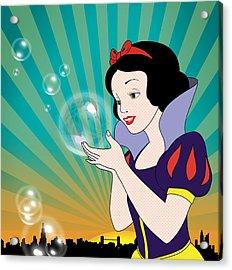 Snow White Acrylic Print by Mark Ashkenazi