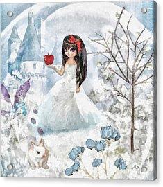 Snow White Acrylic Print by Mo T