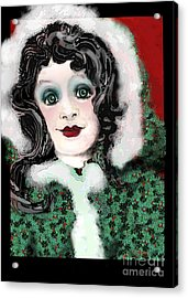 Snow White Winter Acrylic Print by Carol Jacobs
