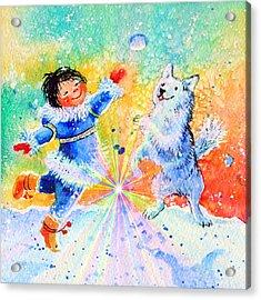 Snowball Fun Acrylic Print