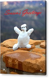 Snowball Snowman Acrylic Print