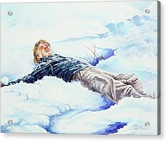 Snowball War Acrylic Print