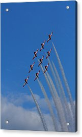 Snowbirds Performing Acrylic Print by Matt Dobson