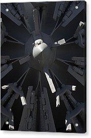 Snowblower Acrylic Print by Steven Ralser