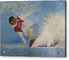 Snowboarder Acrylic Print