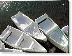 Snowboats Acrylic Print
