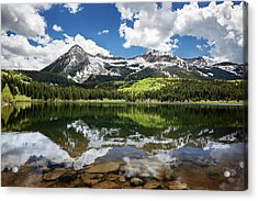 Snowcapped East Beckwith Mountain Acrylic Print by Joey Hayes