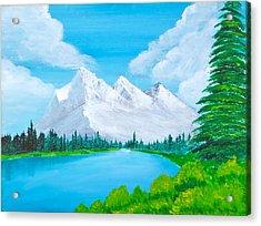 Snowcapped Mountains Acrylic Print
