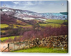 Snowcapped North Yorkshire Moors Acrylic Print