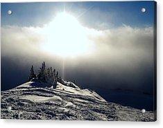 Snowcloud Sunburst Acrylic Print