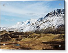 Snowcovered Mountains, North Acrylic Print