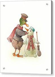 Snowduck Acrylic Print by Kestutis Kasparavicius