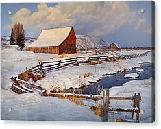 Snowed In Acrylic Print by Priscilla Burgers