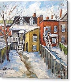 Snowed In Yards By Prankearts Acrylic Print by Richard T Pranke