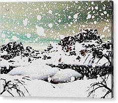 Snowfall Acrylic Print by Anastasiya Malakhova