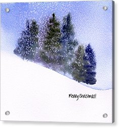 Acrylic Print featuring the painting Snowfall by Anne Duke