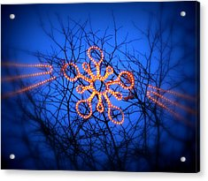 Acrylic Print featuring the photograph Snowflake Christmas Lights by Aurelio Zucco