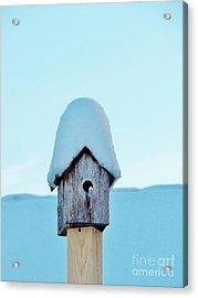 Snowhouse Acrylic Print by Judy Via-Wolff