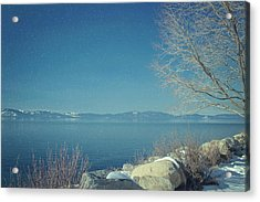 Snowing In Tahoe Acrylic Print