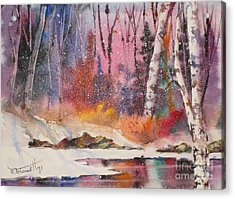 Snowing Acrylic Print by Mohamed Hirji