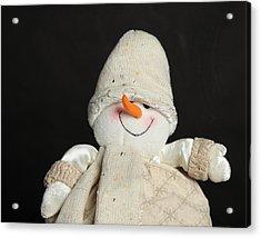 Snowman Acrylic Print by Jim Nelson