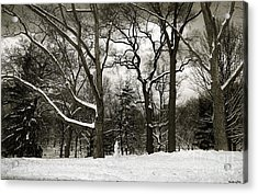 Snowman Acrylic Print by Madeline Ellis