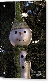Snowman Ornament Acrylic Print by Birgit Tyrrell