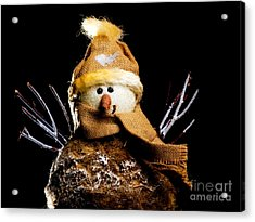 Snowman Acrylic Print by Sinisa Botas