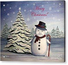 Snowman's Christmas Acrylic Print