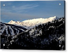 Acrylic Print featuring the photograph Snowmass Mountain - Wild Cat Ranch by Allen Carroll