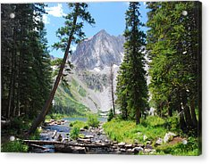 Acrylic Print featuring the photograph Snowmass Peak Landscape by Cascade Colors
