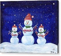 Snowmen Acrylic Print