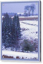 Snow's Arrival Acrylic Print by Joy Nichols
