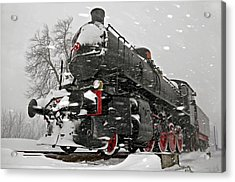 Acrylic Print featuring the photograph Snowsteam by Graham Hawcroft pixsellpix