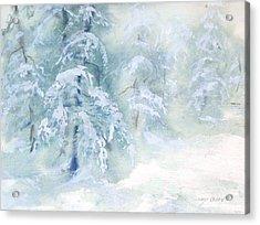 Snowstorm Acrylic Print by Joy Nichols