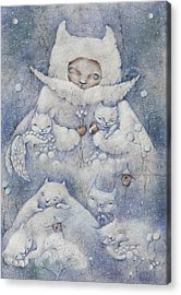 Snowy And Tender Acrylic Print by Anna Petrova