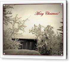 Snowy Christmas Acrylic Print by Leone Lund