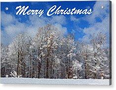 Snowy Christmas Acrylic Print