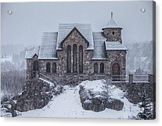Snowy Church Acrylic Print