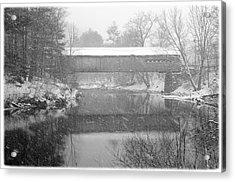 Snowy Crossing Acrylic Print by Luke Moore