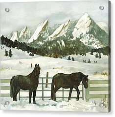 Snowy Day Acrylic Print by Anne Gifford