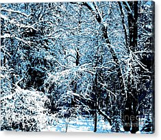 Snowy Day Landscape Acrylic Print