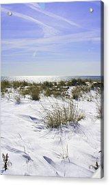 Snowy Dunes Acrylic Print