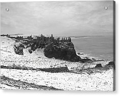 Acrylic Print featuring the photograph Snowy Dunluce 12/02/14 by Roy  McPeak