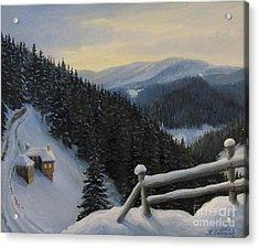 Snowy Fairytale Acrylic Print by Kiril Stanchev