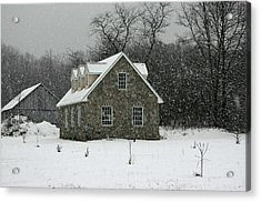 Acrylic Print featuring the photograph Snowy Garage by Andy Lawless