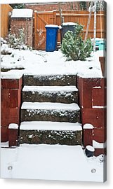Snowy Garden Acrylic Print