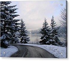Snowy Gorge Acrylic Print by Athena Mckinzie