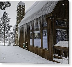 Snowy House Acrylic Print by Tom Wilbert